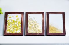 Mr. Kate | DIY framed glitter
