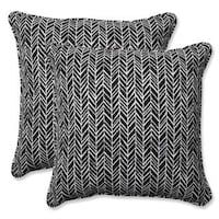 Shop for Pillow Perfect Outdoor/ Indoor Herringbone Night Throw Pillow (Set of Get free delivery at Overstock - Your Online Garden & Patio Shop! Get in rewards with Club O! Black Throw Pillows, Throw Pillow Sets, Pillow Covers, Accent Pillows, Outdoor Cushions, Outdoor Throw Pillows, Perfect Pillow, Herringbone Pattern, House