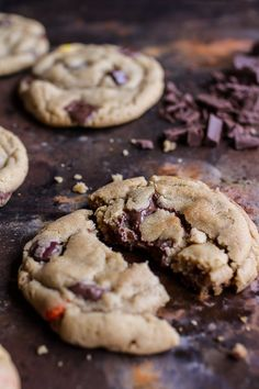 Double Trouble Chocolate Chunk Peanut Butter Honey Cookies | halfbakedharvest.com @hbharvest