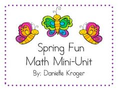 Spring math centers and activities $4.00