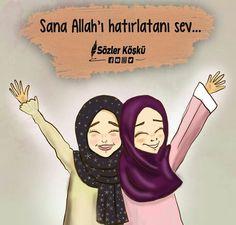 I # Sözlerköşk of Friends Are Like, Best Friends, My Best Friend, Muhammed Sav, Religion, Best Friend Drawings, Islam Women, Hijab Cartoon, Islamic Girl