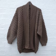 Cardigan hand knit vintage clothes 90s sweater by Regathered Winter Cardigan b422108d1