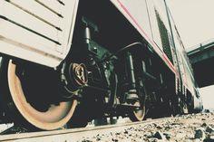 The Amtrak Empire Builder at Milot in North Dakota on my train adventure across the United States.