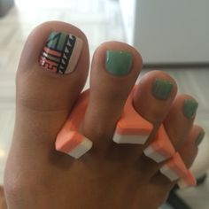 "Exceptional ""nail paint ideas polish easy"" information is offered on our site. Check it out and you wont be sorry you did. Aztec Nail Designs, Pedicure Designs, Pedicure Nail Art, Toe Nail Designs, Pedicure Ideas, Tribal Nails, Chevron Nails, Nautical Nails, Gel Toe Nails"