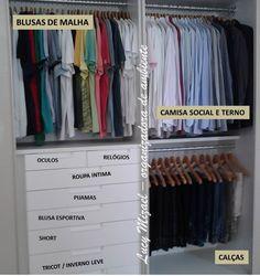 Soluções Domésticas ORGANIZAÇÃO DE GUARDA ROUPA E CLOSET