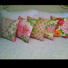 Lilly pillows... #LillyHoliday
