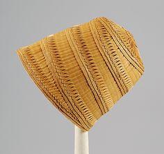 Straw Hat, circa 1810, American, via the MET.