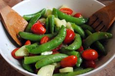 Snap Pea and Cucumber Salad - The Red Bird Life