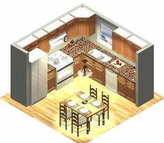 10 X 10 U Shaped Kitchen Designs | 10x10 Kitchen Design .