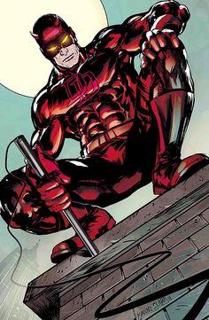 Daredevil by mannyclark on DeviantArt Marvel Comics Superheroes, Dc Comics Art, Marvel Vs, Marvel Heroes, Daredevil Artwork, Daredevil Elektra, Comic Book Covers, Comic Books Art, Daredevil Man Without Fear