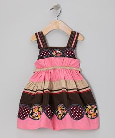 Take a look at this Pink & Brown Patchwork Infinity Dress - Infant, Toddler & Girls on zulily today!