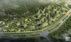 Liuzhou Forest City is a master plan by Stefano Boeri Architetti for a new green city that fights air pollution is now under construction in China Forest City, New Forest, Vertical Forest, Conceptual Architecture, Green Architecture, In China, Urban City, Urban Farming, Plantation