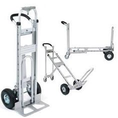 Aluminum Convertible Hand Trucks combine a Platform Truck and Incline Truck with a Standard Two-Wheel Hand Truck. Flat Bed Trolley, Curb Ramp, Mechanical Engineering Design, Moving Blankets, Hand Cart, Moving Supplies, Metal Working Tools, Outdoor Tools, Homemade Tools