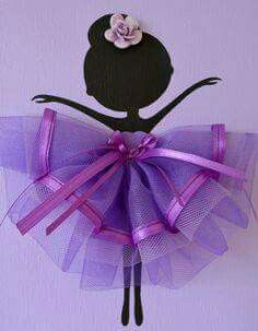 Set of three dancing by FlorasShop Wall Art Sets, Diy Wall Art, Diy And Crafts, Crafts For Kids, Arts And Crafts, Tulle Decorations, Ballerina Party, Purple Rain, Purple Tutu