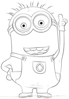 Minion Phil coloring page from Despicable Me category. Select from 24413 printable crafts of cartoons, nature, animals, Bible and many more. Minion Sketch, Minion Drawing, Music Drawings, Disney Drawings, Cartoon Drawings, Drawing Tutorials For Kids, Drawing For Kids, Drawing Ideas, Arte Minion