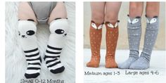 Kids and baby animal socks! Love these!