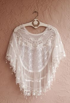 Sheer embroidered Bohemian Cape sleeve romantic by BohoAngels, $120.00