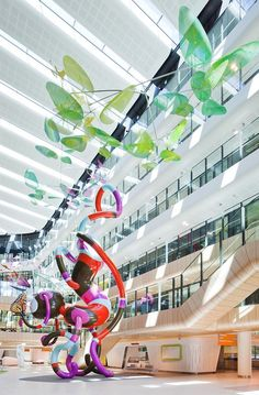 The Royal Children's Hospital - Interiors / Bates Smart Medical Design, Healthcare Design, Childrens Hospital, Victoria Australia, Hospital Signage, Atrium Design, Hospital Architecture, Shop Facade, Hospital Design