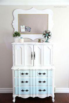 DIY Art & Crafts : DIY Fabric cork board + painted chest