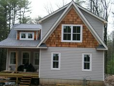 Best Remodeled Ranch Exterior Cedar Shake Siding Gable Ends 400 x 300