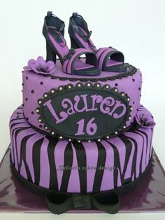 purple and black birthday cakes - Google Search