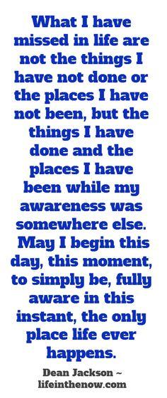 Awareness Reigns ~ lifeinthenow.com