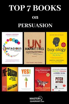 Persuasion, is as much a science, as it is an art. These 7 books help decipher the secrets behind persuasion, and how you can use specific tips and techniques to persuade people towards your desired outcome. Top Books To Read, Good Books, Ya Books, Motivational Books, Inspirational Books, Book Suggestions, Book Recommendations, Book Club Books, Book Lists