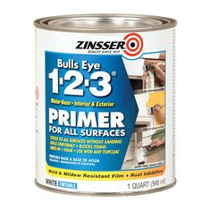 Zinsser Bulls Eye Interior/Exterior Multi-Purpose Water-Based Wall and Ceiling Primer (Actual Net Contents: oz) at Lowe's. Zinsser® BULLS EYE is a whole house, Universal interior/exterior, water-based stain-killing primer-sealer.