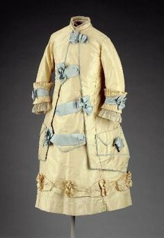 Girl's dress in two parts (bodice)        American (Boston, Massachusetts), about 1880         Boston, USA  Dimensions      58.5 cm (23 1/16 in.); Legacy dimension: CF: 25 in.  Medium or Technique      Silk and cotton  Classification      Costumes     Accession Number      53.2900a  Not on view