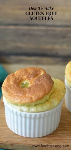 You can make gluten free souffles! These gluten free broccoli cheese souffles are kid-friendly and absolutely delicious. Easy step by step directions on how to make a souffle. Recipe at www.fearlessdining.com #broccoli #souffle #glutenfree #roux #cheese via @fearlessdining