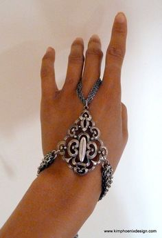 Silver Scrolled Hand Harness
