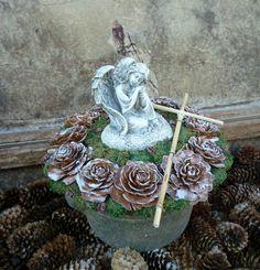 Dekorácie - Spomienková dekorácia s anjelom - 7263769_
