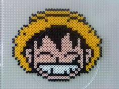 One Piece Luffy hama perler beads