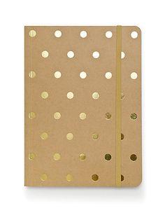 Sugar Paper Gold Foil Dot Journal #giftsforher