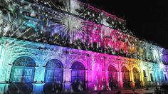Cuándo ver el #Mapping de #Navidad de #Sevilla.  Habrá tres o cuatro pases diarios: de lunes a jueves, a las 19, 20 y 21 horas. Viernes, sábado y domingo, 19, 20, 21 y 22 horas. Y los días 24 y 31 de diciembre, 19 y 20 horas.