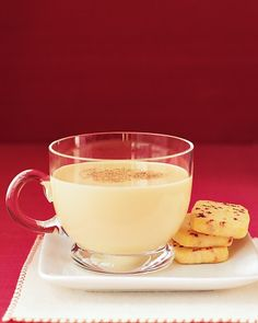 Holiday Eggnog Recipes  Eggnog ~ Just a few ingredients -- egg yolks, sugar, milk, cream, and nutmeg -- create the wonderfully distinctive flavor of that favorite holiday drink, eggnog. These eggnog recipes can be spiked to your liking with rum, bourbon, or brandy, or enjoyed in nonalcoholic form by guests of all ages. In addition to classic and easy eggnog recipes, we gathered our best eggnog desserts, including cheesecake bars