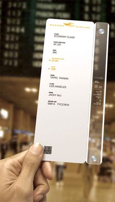 Boarding Pass of the future?