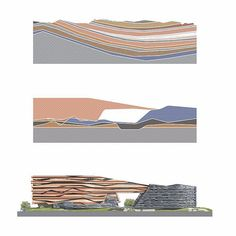 Construction awarded for the new Eni corporate campus in Milan! The campus is defined by striated facades that reference the tectonic geological conditions through which energy is produced expressing Enis relationship to natural processes.