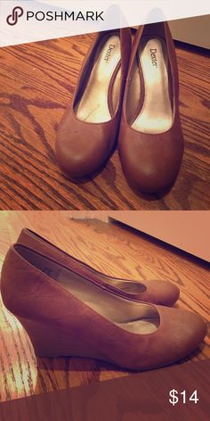 Brown thick heels Barely worn brown heels! dexter Shoes Heels
