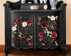 Rub On Transfers For Furniture Furniture Decals ReDesign Thrift Store Outfits, Thrift Store Crafts, Furniture Makeover, Diy Furniture, Furniture Refinishing, Decoupage Furniture, Red Painted Furniture, Painted Dressers, Cottage Furniture