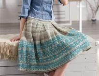 57 модных моделей  юбок для вязания спицами. Бесплатные схемы вязания юбок спицами с подробным описанием.