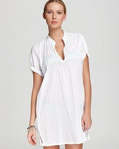no wonder i liked this cover up it's named after me :-) Lauren Ralph Lauren Tunic - Crushed Cotton Short Sleeve Darcy | Bloomingdale's