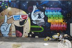 newz dabs myla graffiti street art mural los angeles culver city