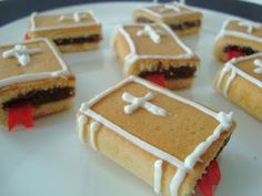 Bibles made from fig newtons, fruit rollups, and icing!