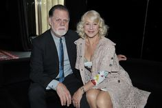 Helen Mirren and her husband, Taylor Edwin Hackford Front Row at Dolce & Gabbana