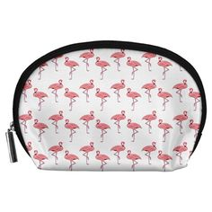 Pink+Flamingo+Pattern+Accessory+Pouch+(Large)
