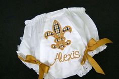 Fleur de lis Baby Bloomers Little Girls by grammeshouse on Etsy, $17.00