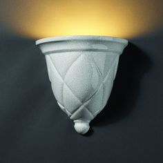 Justice Design Group Ambiance 1 Light Wall Sconce Finish: Sienna Brown Crackle