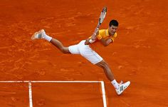 Novak Djokovic of Serbia in action against Tomas Berdych of Czech Republic in the final during day eight of the Monte Carlo Rolex Masters tennis Picture: Getty Images Tennis Tournaments, Tennis Players, Tennis Pictures, Breaking News Today, Tennis Clothes, Tennis Outfits, Tennis Match, Andy Murray, Tennis