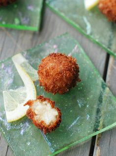 If you're lucky enough to have a spot of leftover risotto, absolutely make Arancini (fried risotto balls). Risotto Balls, Arancini Recipe, Homemade Crackers, Asian, Unique Recipes, Gluten Free Recipes, Rice Recipes, Yummy Recipes, Appetizer Recipes